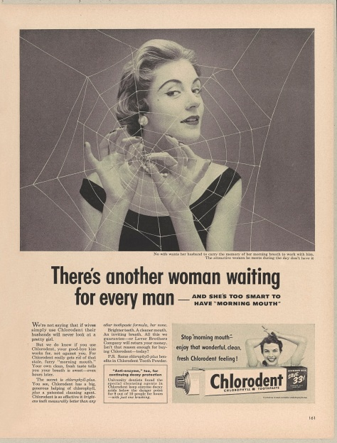 There's another woman waiting for every man - Chlorodent Toothpaste 1953